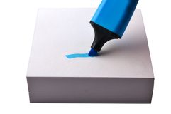 Blue highlighter Royalty Free Stock Photos