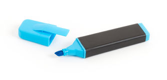 Blue highlighter isolated Stock Image