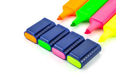 Blue highlighter Royalty Free Stock Photography