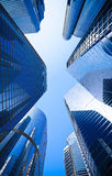 Blue highrise glass skyscraper Royalty Free Stock Images