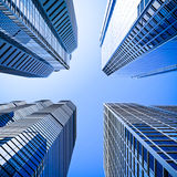 Blue highrise glass skyscraper Royalty Free Stock Image