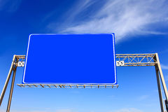 Blue highway sign Royalty Free Stock Photos