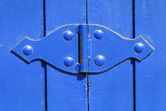 Blue Hinge Stock Photo