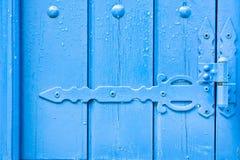 Blue hinge Stock Photo