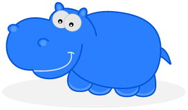 A blue hippo Royalty Free Stock Image
