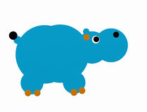 Blue hippo royalty free stock images