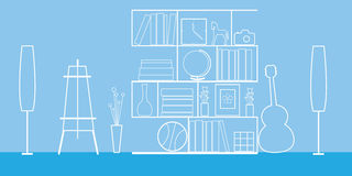 Blue hobbies room Stock Image