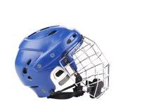 Blue hockey goalie mask. Stock Photos