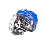 Blue hockey goalie mask. Royalty Free Stock Photography