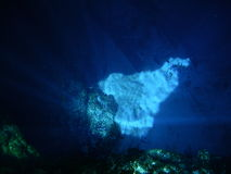 Blue Hole. The spectacular sunlight effects at Blue Hole Stock Photos