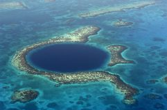 Blue Hole (aerial) Royalty Free Stock Images