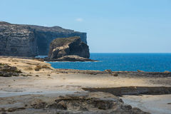 Blue hole and the collapsed Azure window. Gozo, Malta Royalty Free Stock Photography