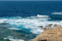 Blue hole and the collapsed Azure window. Gozo, Malta Stock Photo
