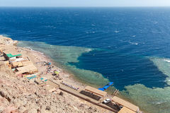 Blue Hole, Dahab, Egypt. Blue Hole is a popular diving location on east Sinai, a few kilometres north of Dahab, Egypt on the coast of the Red Sea Royalty Free Stock Photography