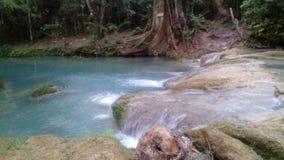 At blue hole. Natural blue falls Royalty Free Stock Photos