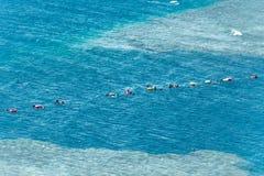 Freediving training in Blue hole, Dahab, Sinai, Red Sea, Egypt stock photo