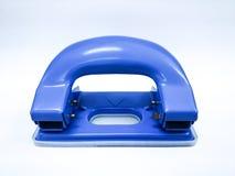 Blue hole punch isolated white background. Blue hole punch, isolated white background Royalty Free Stock Photography