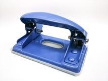 Blue hole punch isolated white background. Blue hole punch, isolated white background Royalty Free Stock Photo