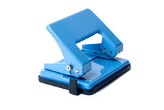 Blue hole puncher. On a white background Royalty Free Stock Image