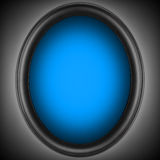 Blue hole in the shape. Of an oval on the space grey background. Background Stock Image