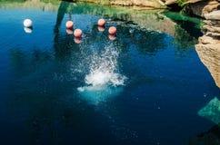 Blue Hole Splash Royalty Free Stock Photo
