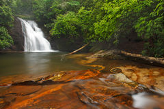 Blue Hole Waterfall, high shoal trail Royalty Free Stock Images