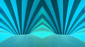 Blue holes. Abstract photograph with blue lines and curves, inside of a circus tent Stock Images