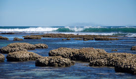 Blue Holes Beach: Tidal Pools stock photo