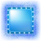 Blue holiday background Stock Photography