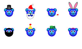 Blue Holiday Bears Stock Photography
