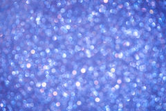 Blue holiday bokeh Royalty Free Stock Images