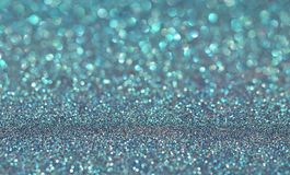 Blue holiday glitter background royalty free stock photography