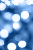 Blue holiday lights Royalty Free Stock Photography