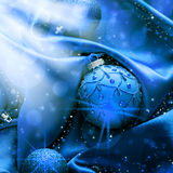 Blue holiday ornaments Stock Photography