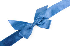 Blue holiday ribbon Stock Photography
