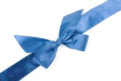 Blue holiday ribbon Stock Photography