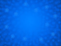 Blue holiday snowflake background Royalty Free Stock Images