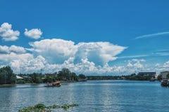 Blue holiday. Travel to ampawa market Stock Photo