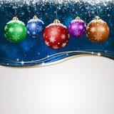 Blue Holiday Xmas Greeting Card Royalty Free Stock Images