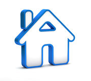 Blue home button icon Royalty Free Stock Photos