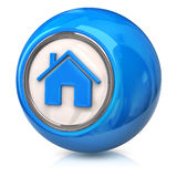 Blue home icon Stock Photos