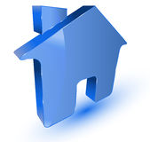 Blue home symbol Royalty Free Stock Photography