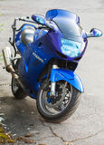 Blue Honda CBR1100XX Super Blackbird Stock Image