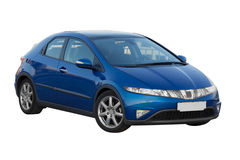 Blue honda civic 5d Royalty Free Stock Image