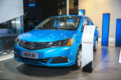 Blue honda everus car Royalty Free Stock Image