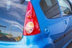 Blue honda jazz Car light Royalty Free Stock Images