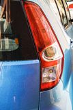 Blue honda jazz Stock Image