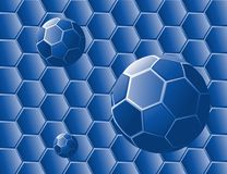 Blue Honeycomb Abstract Stock Photography