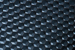 Blue honeycomb grid; macro shot; shallow DOF Royalty Free Stock Image