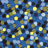 Blue Honeycomb. Wonder Honeycomb in Blue shade Stock Photo